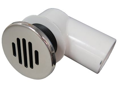 "GRAVITY DRAIN ASSEMBLY: 3/4"" SOCKET, LOW PROFILE WITH STAINLESS STEEL COVER 640-0401S"