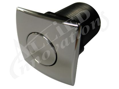 AIR BUTTON: #20 ZEN CHROME PLASTIC SQUARE AM-AB-C-CP