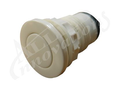 AIR BUTTON: FLAT, FOR GUNITE, WHITE B340WA