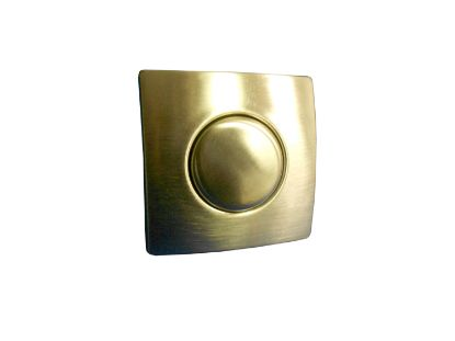 AIR BUTTON TRIM: #20 DESIGNER TOUCH, BRUSHED STAINLESS, SQUARE