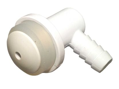 "AIR INJECTOR: 3/8"" BARB VERTICAL BODY WHITE 23036-000"