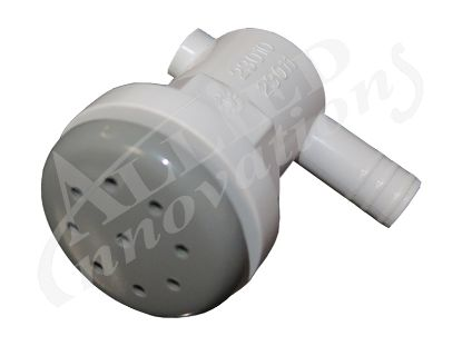"AIR INJECTOR ASSEMBLY: 3/8"" ELL RIBBED BARB, GRAY 23010-001-000"