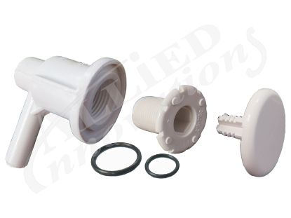 "AIR INJECTOR ASSEMBLY: LOW PROFILE,  3/8""SB, ELBOW STYLE, WHITE 670-2200"