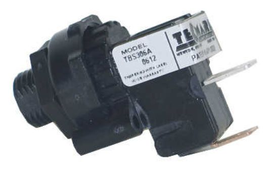 AIR SWITCH: 25AMP - SPNO - LATCHING - 90° TBS306A