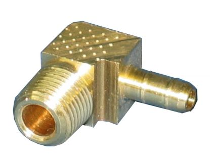 "BRASS FITTING: 90° X 1/4"" BARB"