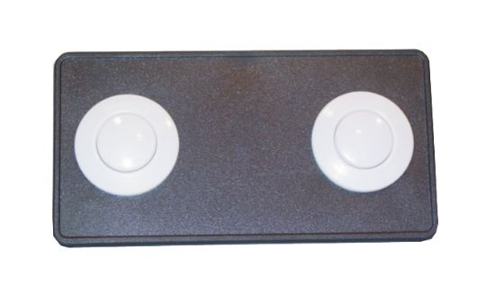 BUTTON DECKPLATE: #15 CLASSIC TOUCH, 2 BUTTON PANEL, BLACK