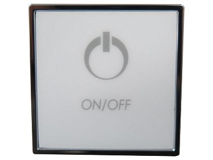 TOPSIDE: TMS SQUARE 1 BUTTON ON/OFF CHROME CG/TMS1-KS1-UT-V2-CP