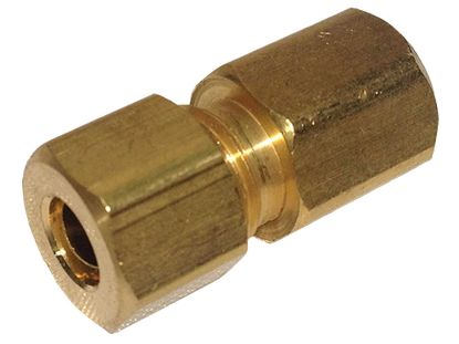 "COMPRESSION FITTING: 1/8"" FIP X 1/4"" OD BRASS 66C-4-2"