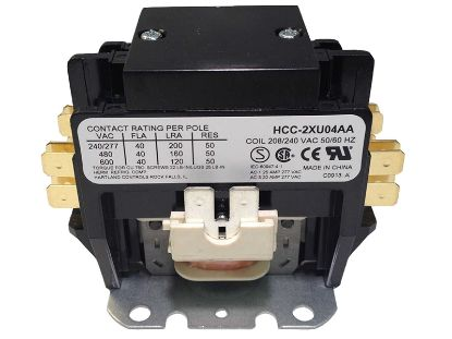 CONTACTOR: 220V DPST 50AMP HCC-2XU04AAC