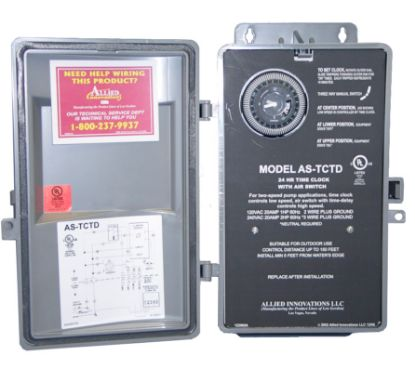 CONTROL: AS-TCTD-10MIN, 120/240V, 20AMP, WITHOUT BUTTON