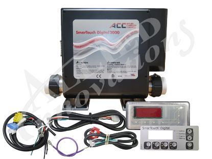 CONTROL: SMARTOUCH DIGITAL 2000 WITH 5.0KW HEATER, KP-2020 TOPSIDE AND CORDS Bundle K20