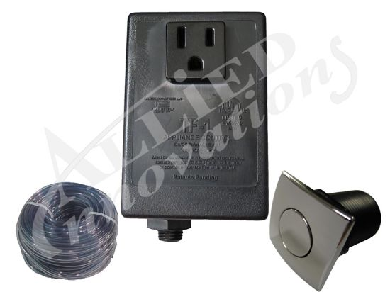 CONTROL: TF-1, 120V 1.0HP PKG WITH SQUARE CHROME BUTTON