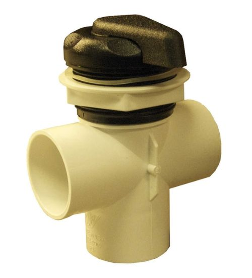 "DIVERTER VALVE: 2"" VERTICAL 2-PORT WITH BLACK HANDLE 600-3041"
