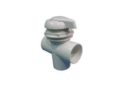 "DIVERTER VALVE: 3-WAY FLOW 2"" SLIP X 2"" SLIP X 2"" SLIP  WHITE 11-4000WHT"