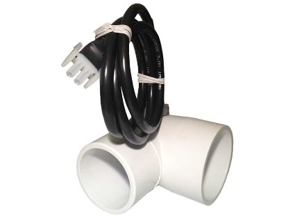"FLOW SWITCH: MOUNTED 2"" SLIP X SPIGOT 90° SPST WITH 36"" CORD  2-PIN AMP Q-12DS"