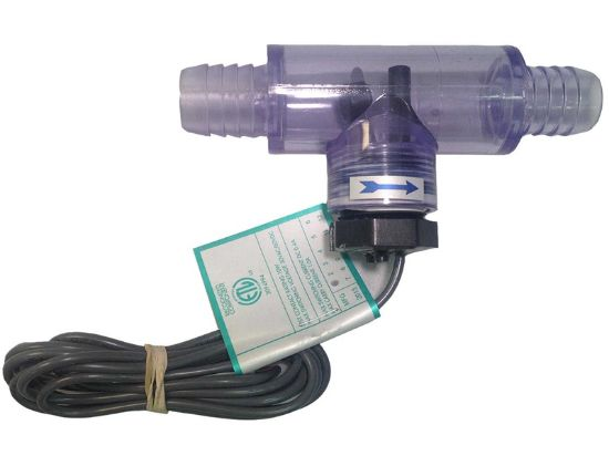 "FLOW SWITCH: MOUNTED IN TRANSPARENT TEE FITTING, 3/4"" BARBED, BOX END CONNECTORS, NO PLUG 6560-857"