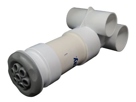 "JET ASSEMBLY: 1-1/2"" SLIP AIR X 2"" SLIP WATER POLYJET GUNITE 210-3710"