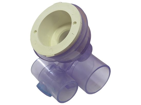 "JET BODY: 1"" SLIP AIR X 1-1/2"" SLIP WATER FOR MICRO'SSAGE & CONVERTA'SSAGE 10-4560WHT"
