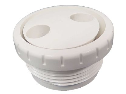 "JET INTERNAL: 1-1/2"" MPT ROTATING EYEBALL ASSEMBLY WHITE 212-9170"