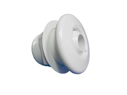"JET INTERNAL: 1-1/2"" SLIP STANDARD WALL FITTING ASSEMBLY WITH EYEBALL WHITE 10-3300WHT"