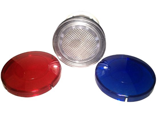 "LIGHT PART: 2-1/2"" WALL FITTING WITH LENSES (RED / BLUE) 10000MB"