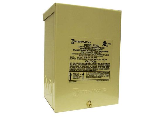 LIGHT TRANSFORMER: 100W 120V-12V IN RAINPROOF ENCLOSURE PX-100