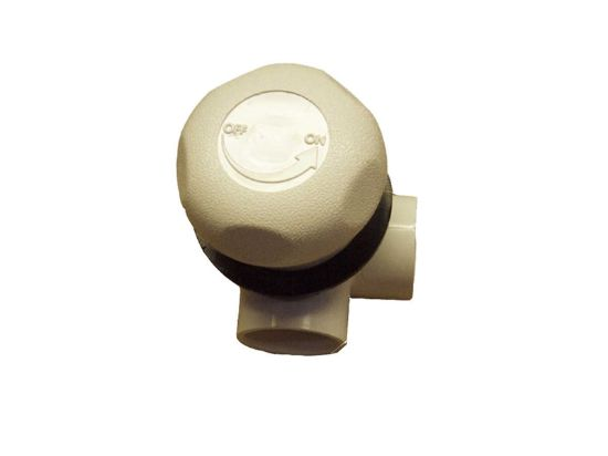 "ON/OFF VALVE: 1"" DUAL PORT 3-WAY HORIZONTAL 5 SCALLOP 600-4380"