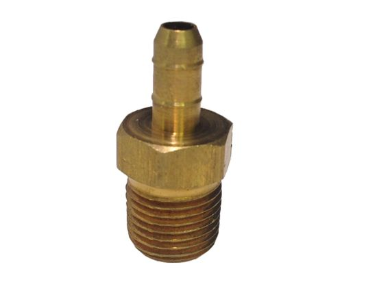 "OZONE FITTING: 1/4"" BARB X 1/8"" MPT BRASS X28-62"