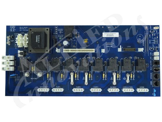 PCB: 2008 D RELAY WITH STEREO RELAY VITA SPA 0454005-D