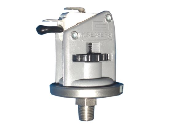 "PRESSURE SWITCH: UNIVERSAL - 25AMP - 1/8"" NPT - SPDT - 1-5PSI - STAINLESS BASE"
