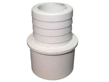 "PVC ADAPTER: 1"" SPIGOT OR 3/4"" SLIP X 1"" RIBBED BARB 425-1010"