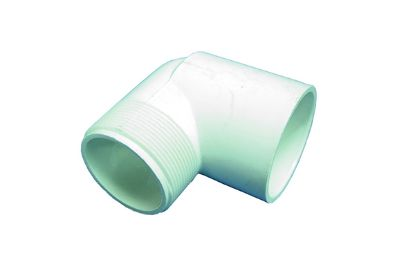 "PVC FITTING: 90° ELBOW 1-1/2"" MPT X 1-1/2"" SLIP 410-015"