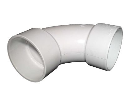 "PVC FITTING: 90° ELBOW SWEEP 2"" SLIP X 2"" SLIP 411-9130"