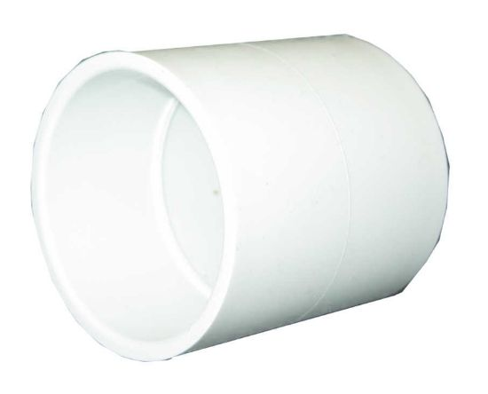 "PVC FITTING: COUPLING 1-1/2"" SLIP X 1-1/2"" SLIP 429-015"