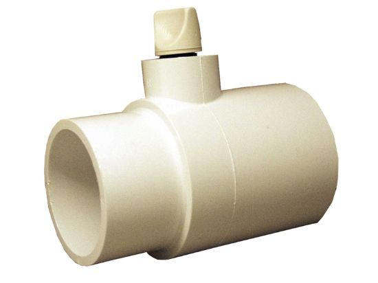 "PVC FITTING: TEE WITH RELIEF VALVE 2"" SPIGOT X 2"" SLIP X 3/8"" FEMALE PIPE THREAD WITH 400-4260"