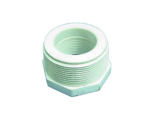 "PVC REDUCING BUSHING: 1-1/4"" MIPT X 1"" FIPT 439-168"