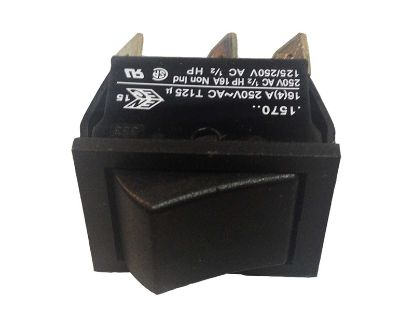 ROCKER SWITCH: 10AMP DPDT 3-WAY C1570A1BB