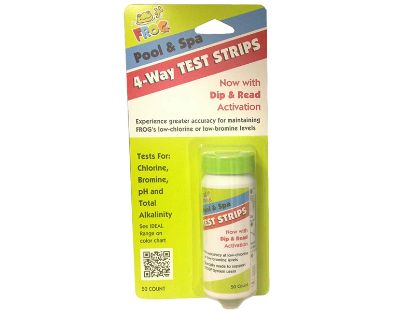 SPA FROG: 4-WAY TEST STRIPS (50 COUNT) 01-14-3318