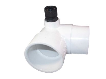 "THERMOWELL: PVC 90° 2"" SLIP X 3"" WITH TAILPIECE 48-0087G-T"