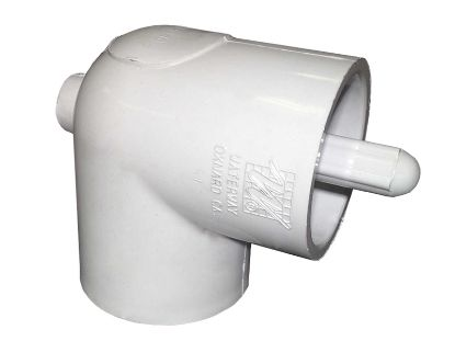 "THERMOWELL: PVC 90° ELBOW 1-1/2"" SLIP X SLIP WITHOUT BLEEDER 400-5580"