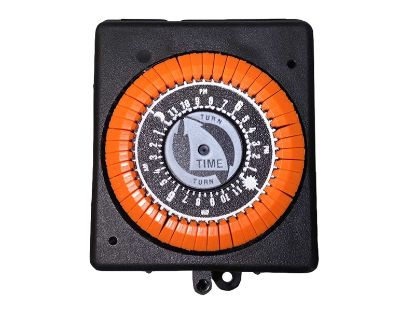 TIME CLOCK: 110V, 20AMP, 60HZ, 24 HOUR, 4 LUG, ORANGE PB913N