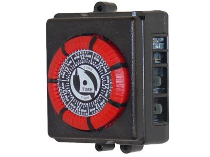 TIME CLOCK: 110V, 20AMP, 60HZ, 7 DAY, 4 LUG, RED PB873-RED