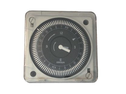 TIME CLOCK: 220V, SPDT, 1AMP, 60HZ, 24 HOUR, GOLD PLATED, 5 LUG MIL72E/STUZ.1A24
