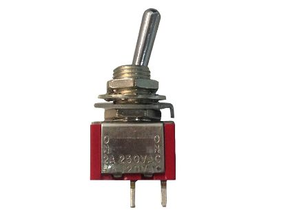 TOGGLE SWITCH: 6AMP 125V MINI  2-PRONG SPST MTS101 T100T1B1A1QN