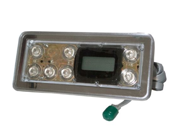 TOPSIDE: E8 STAINLESS STEEL 7 BUTTON WITH BACKLIGHT WITHOUT OVERLAY 54144-01