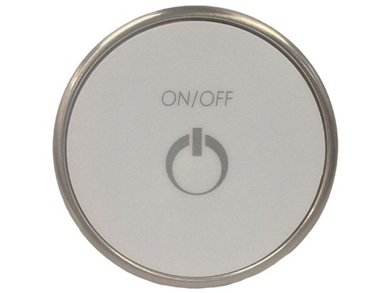 TOPSIDE: TMS ROUND 1 BUTTON ON/OFF BRUSHED NICKEL CG/TMS1-KR3-UT-V2-NIP