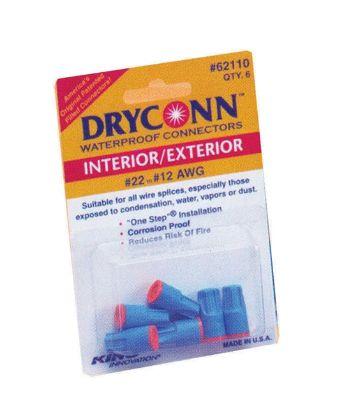 WIRE CONNECTOR: DRYCONN - AQUA / RED - WIRE #22-8 (5/BAG) 62210