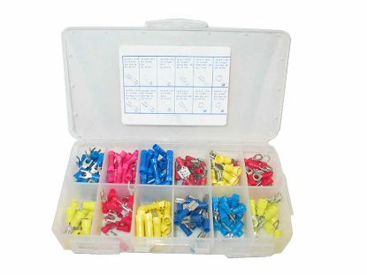 WIRE TERMINAL KIT: ASSORTED SIZES (200 PIECES) 10816